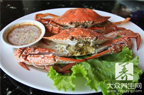 吃完螃蟹不能吃什么